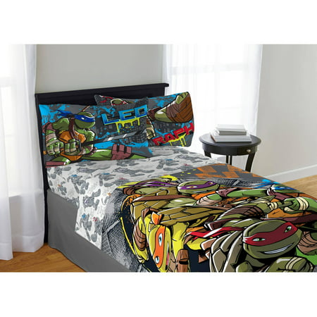 Teenage Mutant Ninja Turtles Cross Hatching Sheet Set, 1 Each - Teenage Mutant Ninja Turtles Room Decor