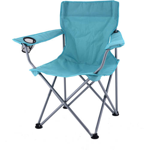 Ozark Trail Deluxe Folding Camping Chair, Turquoise