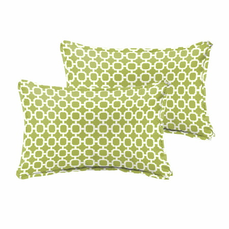 Humble and Haute Hadley III Pear Green Chainlink Indoor/ Outdoor 13 x 20-inch Flange Pillow Set