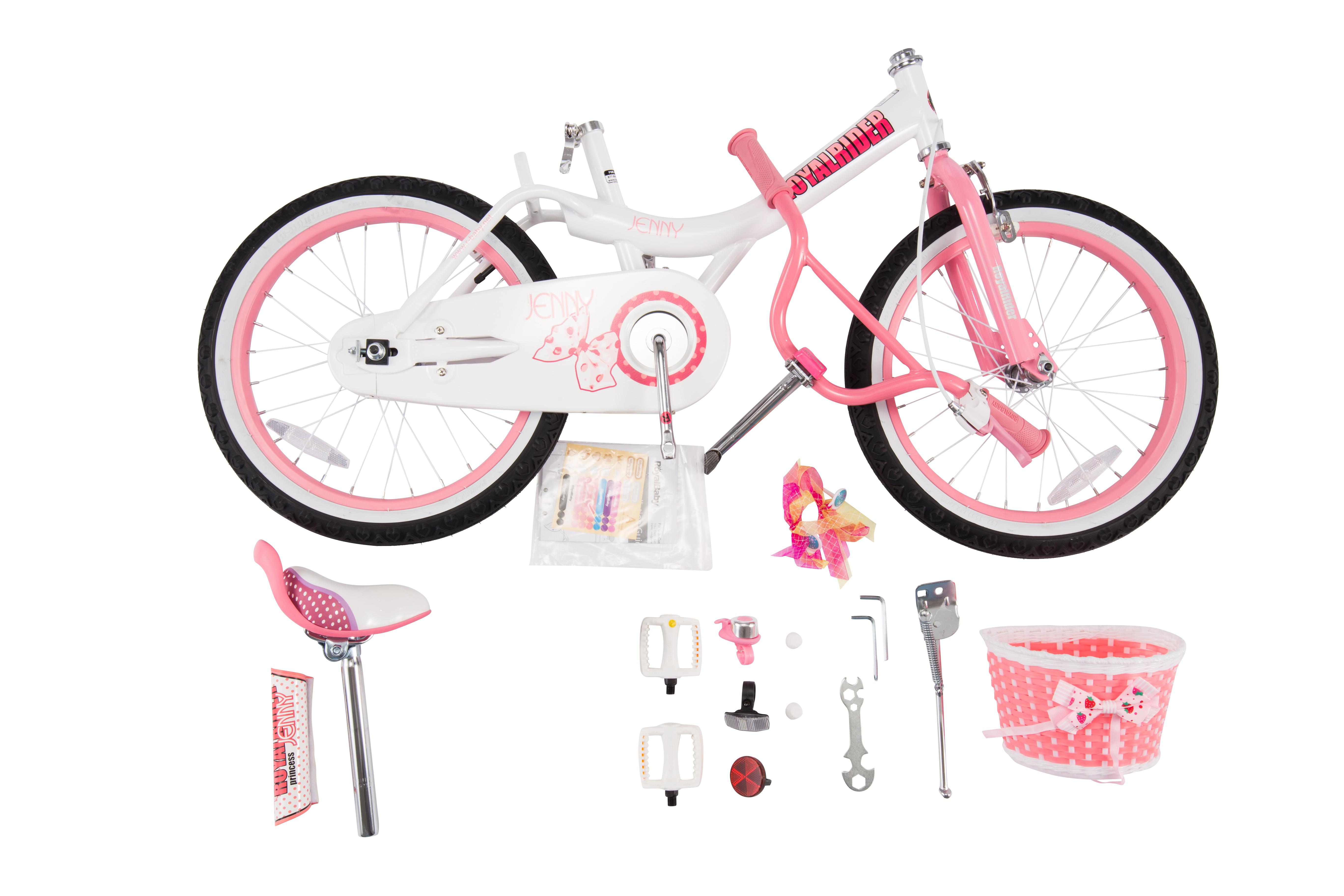 972948654babc Royalbaby Jenny Princess White   Pink 14 inch Girl s Bicycle - Walmart.com
