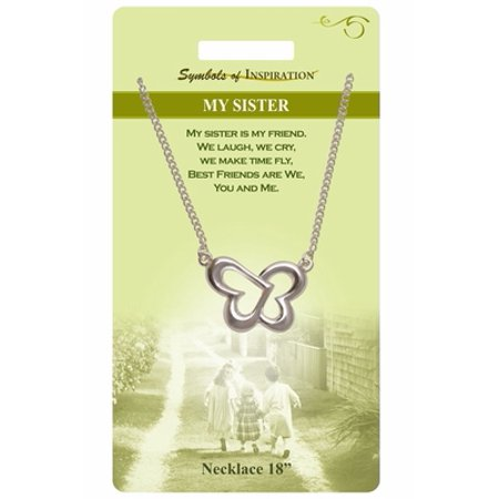 My Sister  Necklace With Gift Card And Envelope