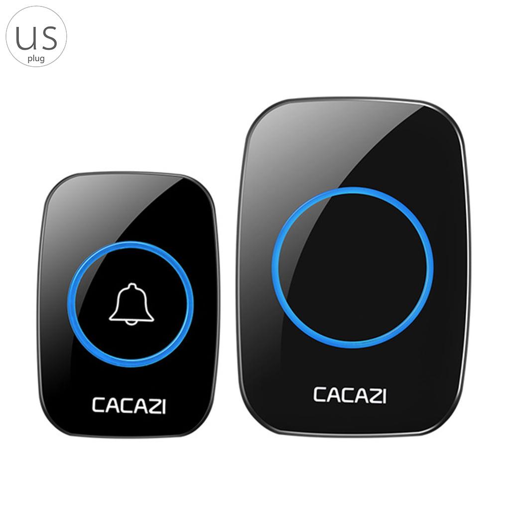 CACAZI A10 Wireless Doorbell Waterproof 300M Range Door Bell Low Price High Quality Home 38 Chimes Door Ring 100-240V