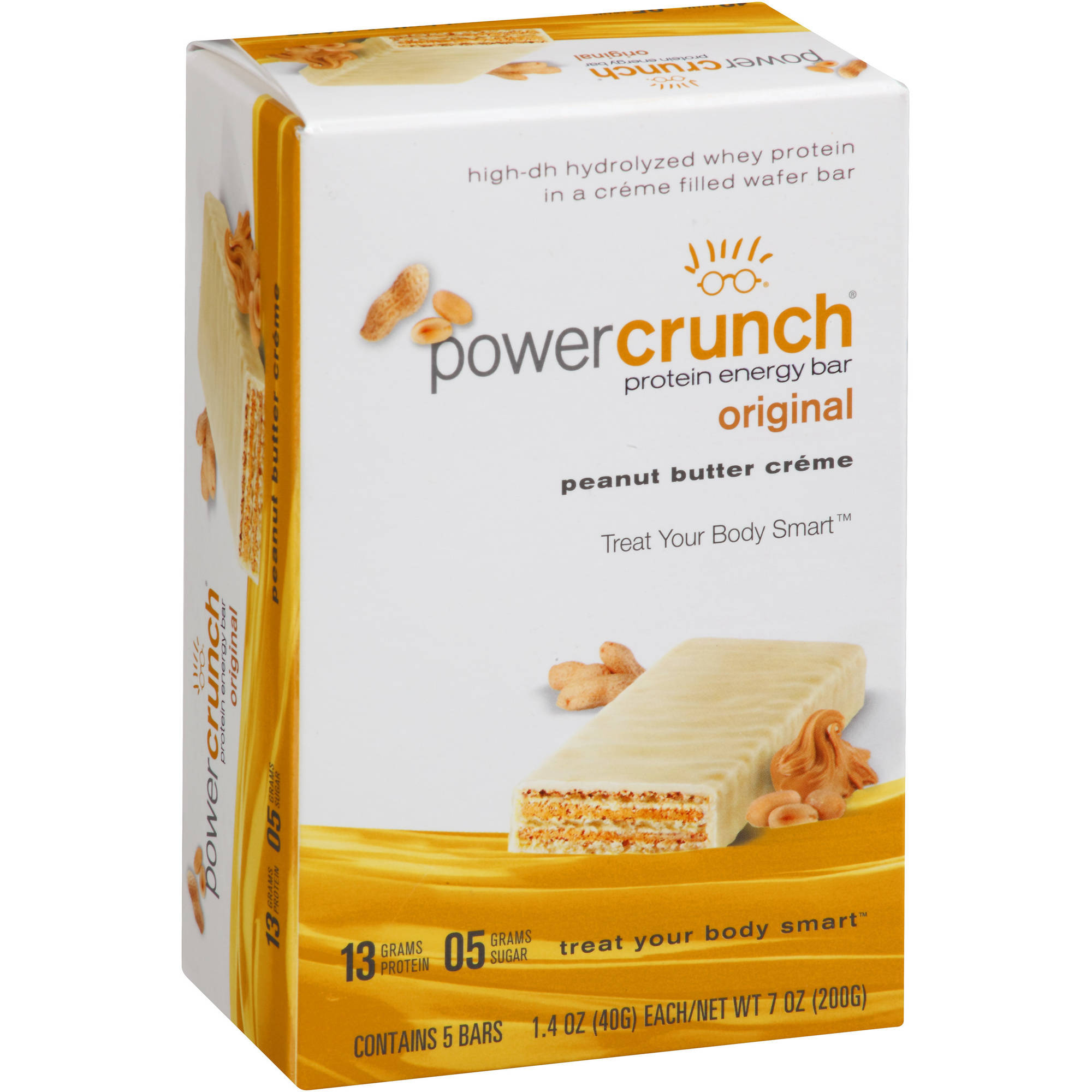 Power Crunch Original Peanut Butter Creme Protein Energy Bars, 1.4 oz, 5 count