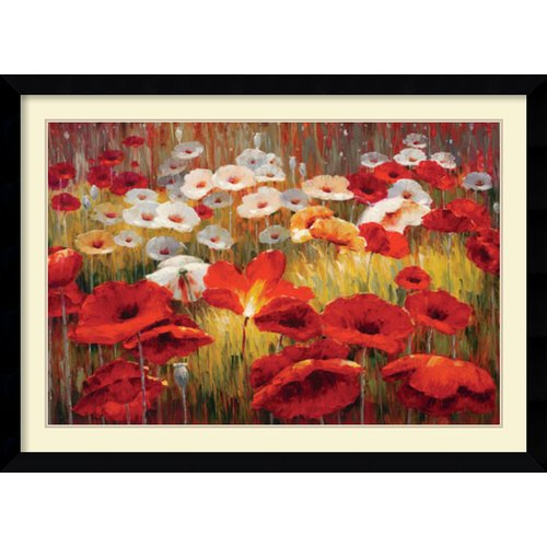Amanti Art 'Meadow Poppies II' by Lucas Santini Framed Painting Print by Amanti Art