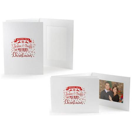 Festive & Bright Christmas Photo Folders For 4x6 - Horizontal (25 Pack) ()