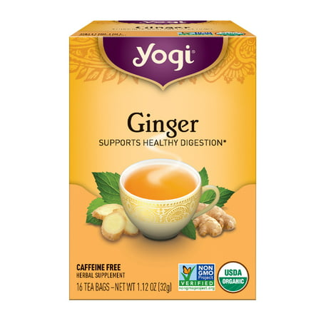 (6 Boxes) Yogi Tea, Ginger Tea, Tea Bags, 16 Ct, 1.12 (Yogi Ginger)