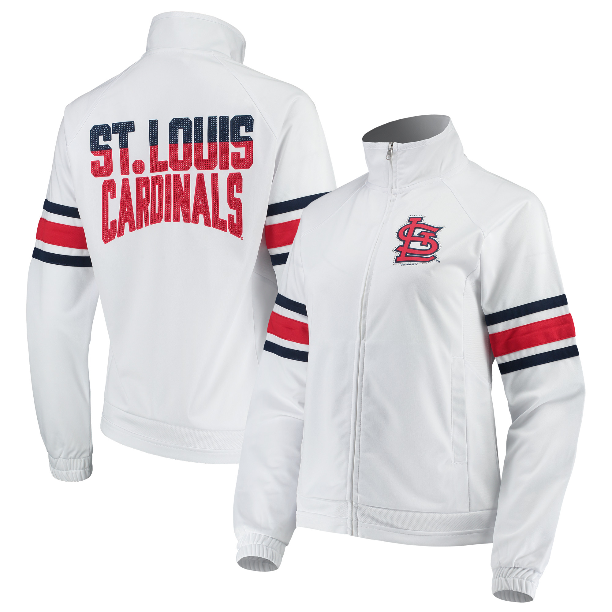 St. Louis Cardinals G-III 4Her by Carl Banks Women's Game Score Full-Zip Track Jacket - White