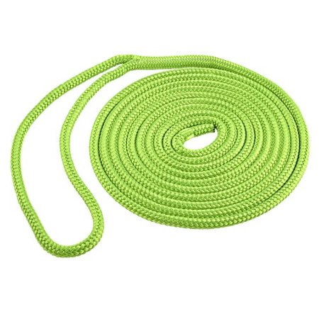 Shoreline Marine Double Braided Polyester, 3/8 in x 20 ft, Neon Green