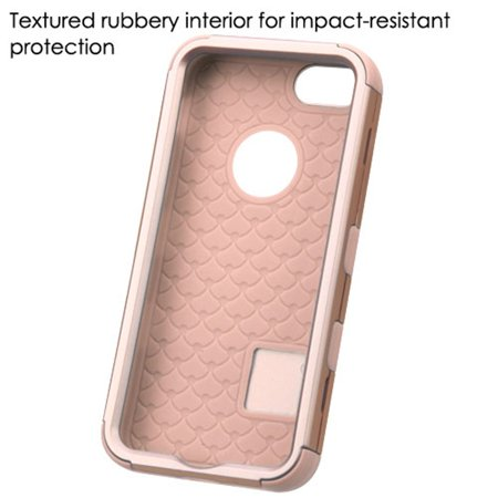 Insten Tuff Hard Dual Layer Rubber Silicone Case For Apple iPhone SE / 5 / 5S - Rose Gold - image 4 of 6