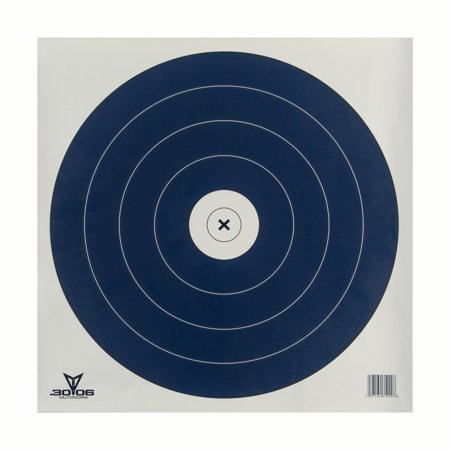 .30-06 Outdoors Single Spot Paper Target 100ct The Single Spot Paper Target features all the practice of the traditional single spot target. This style of target is used in NFAA indoor target competitions. Measures: 17  x 17 . Target is designed for indoor 300 rounds. Comes in 100 count.
