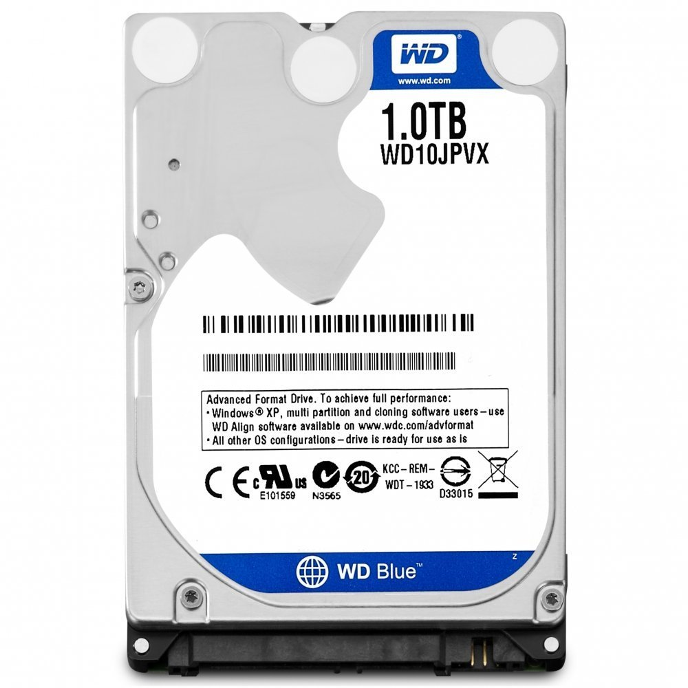 WD Blue 1TB 2.5 inches (9.5mm height) Laptop Notebook Internal SATA 6Gb/s Hard Drive 5400RPM Model WD10JPVX