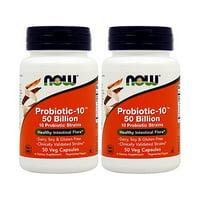 Now Foods - Probiotic-10 ™ 50 Billion 50 Veg Capsules (Pack of 2)