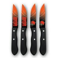 Cleveland Browns Woodrow 4-Piece Stainless Steel Steak Knife Set