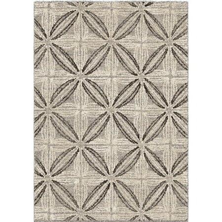 Daisy Contemporary 5x8 Area Rug in Grey/Cream - image 5 de 5