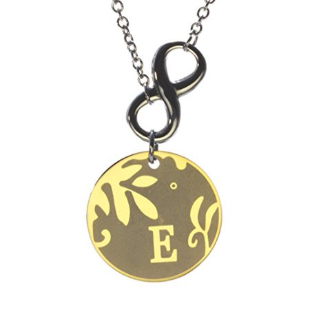 R.H. Jewelry Stainless Steel Alphabet Initial Sentimental Pendant Necklace (E) ()