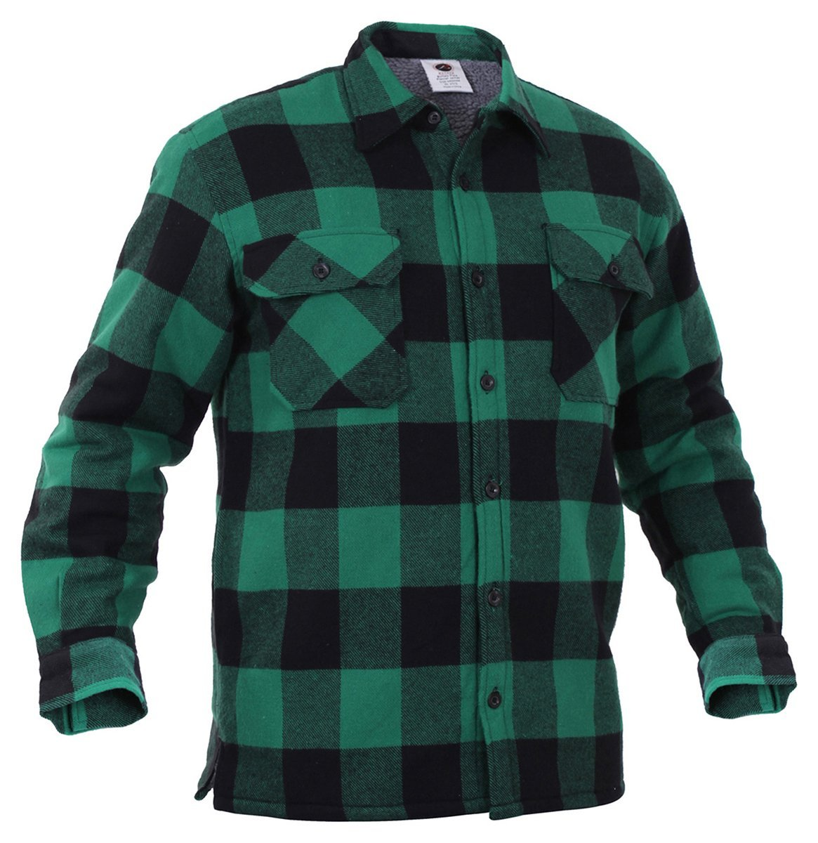 Rothco Extra Heavyweight Buffalo Plaid Sherpa-lined Flannel Shirts - Green, X-Large
