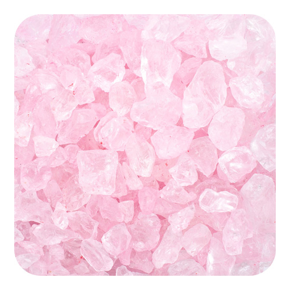 Sandtastik Preschool Kids Children Craft Colored ICE Real Glass Gems, Scatters 10 lb (4.5 kg) Box; 4 - 10 mm - Pink