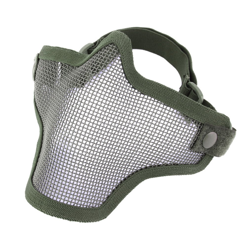 Steel Mesh Half Face Mask Guard Protect For Paintball Airsoft Game Hunting by konxa