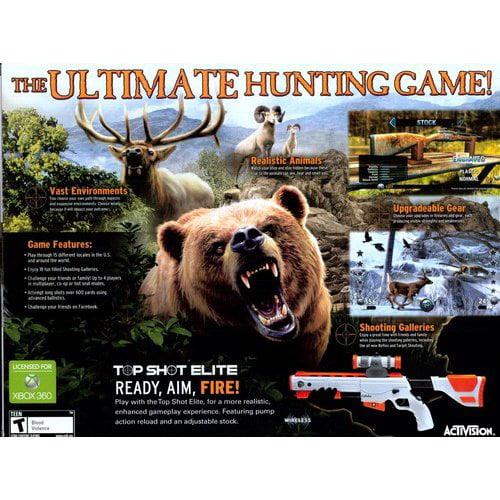 Cabela's Big Game Hunter 2012 w/ gun (Xbox 360)