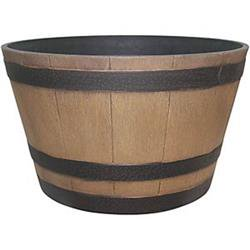 Southern Patio 8248965 HDR-012207 Hampton Whiskey Barrel, Natural Oak - 15. 5