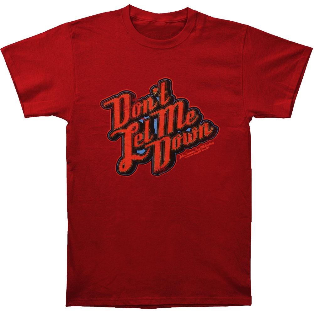 Beatles Men's  Don't Let Me Down T-shirt Red