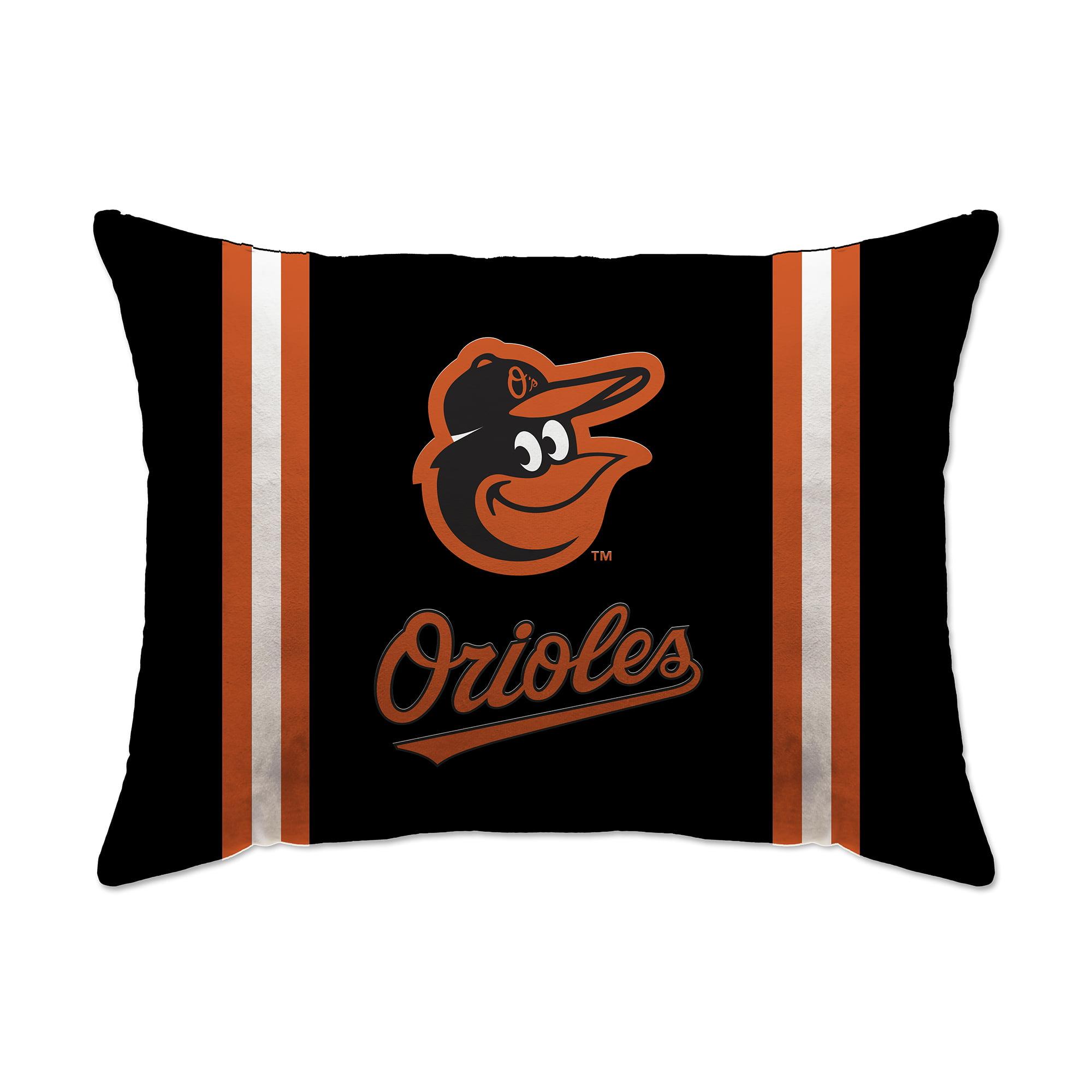 "Baltimore Orioles 20"" x 26"" Plush Bed Pillow - Black - No Size"