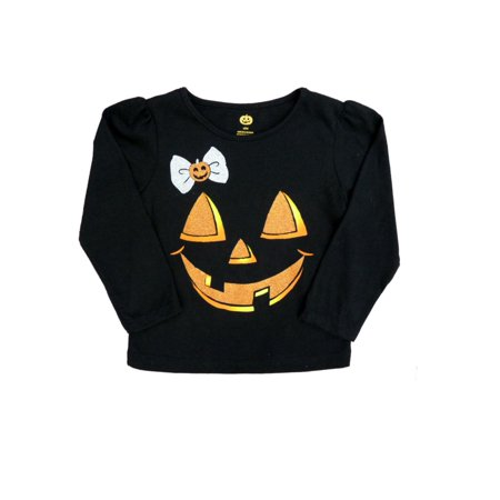 411208f7 My Halloween - Infant & Toddler Girls Black Jack-O-Lantern Halloween Shirt  Pumpkin T-Shirt - Walmart.com