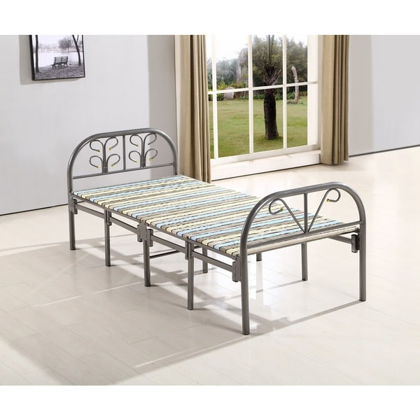 US Pride Furniture Metal Frame Butterfly Folding Guest Twin Bed by US Pride Furniture