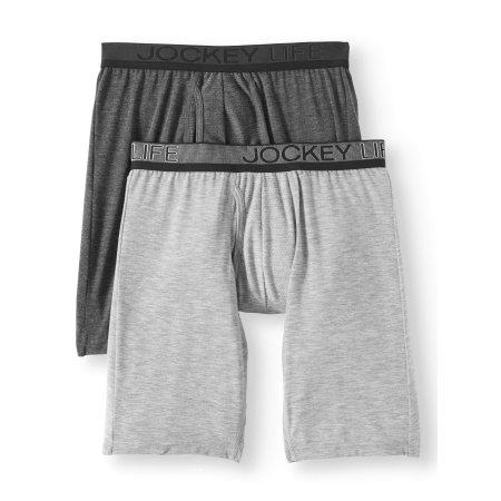 Jockey Life Men's Eco Outdoor Gear Long-Leg Boxer Brief - 2 pack
