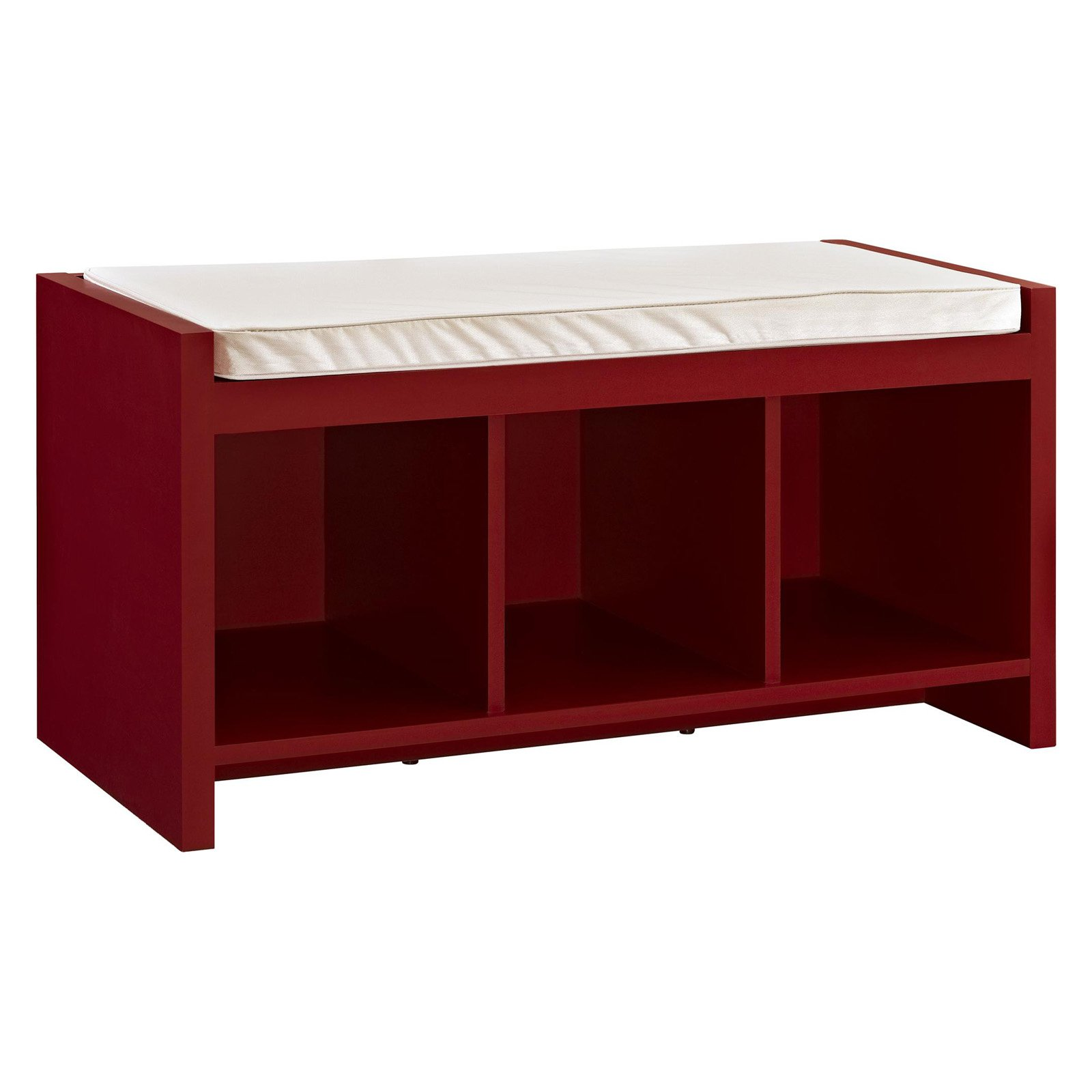 ameriwood home altra penelope entryway storage bench with cushion
