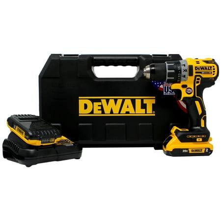 Dewalt DCD791D2 20V MAX XR Li-Ion 0.5u0022 2.0Ah Brushless Compact Drill/Driver Kit