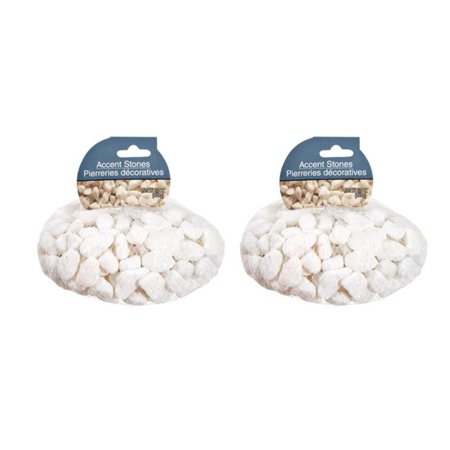 White Accent Home Crafting Decor Decorative Real Stones Rocks 32 oz 2 Pack](Crafting Stores)