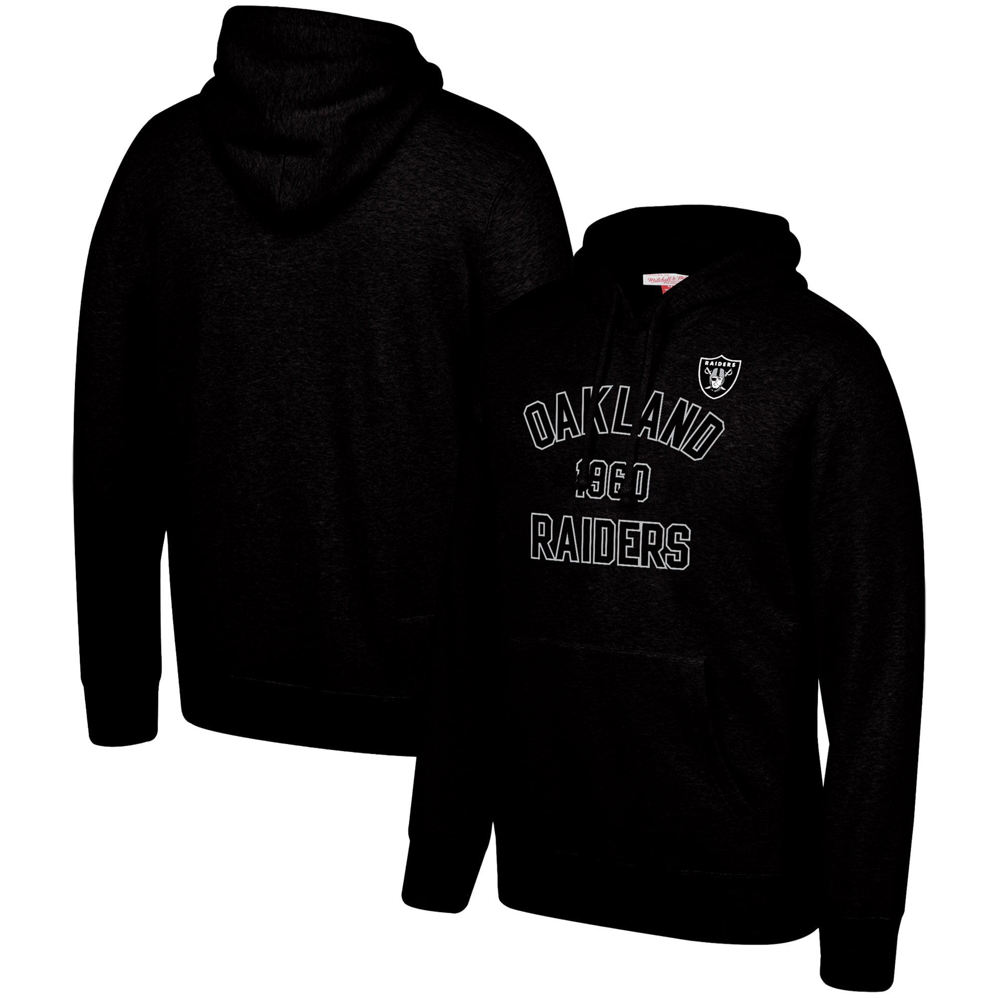 Oakland Raiders Mitchell & Ness Team History Pullover Hoodie - Black