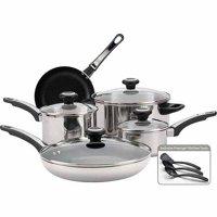 Farberware 12-Piece Cookware Set, Stainless Steel