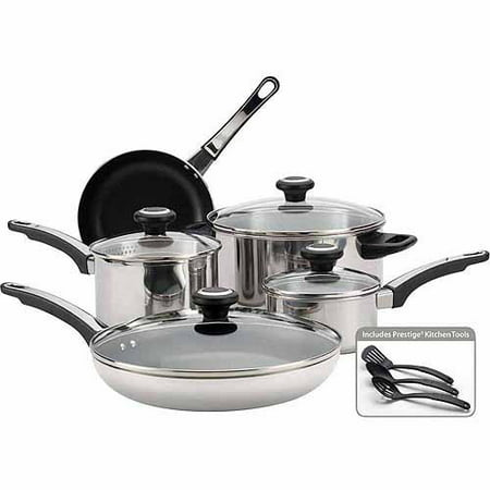 Farberware Stainless Steel Classic Cookware - Farberware 12-Piece Cookware Set, Stainless Steel