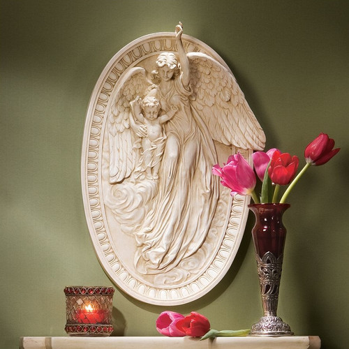 Design Toscano Angel of Grace Bas-Relief Wall D cor