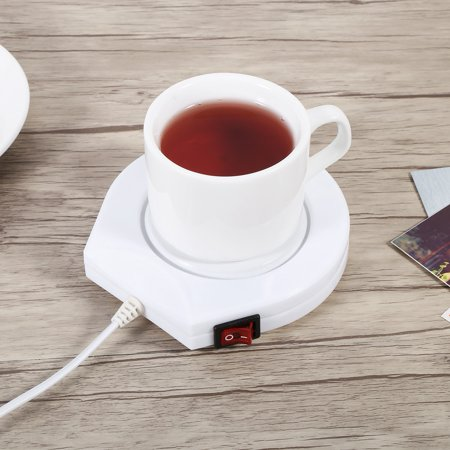 YLSHRF Heater Pad,110V  White Electric Powered Cup Warmer Heater Pad Coffee Tea Milk Mug US Plug, electric powered pad ,warmer heater