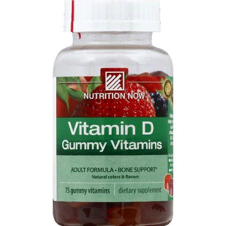 - Nutrition Now Vitamin D Gummy Vitamins, 75 ea