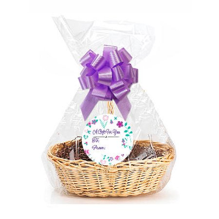 """Lavendar Blossom  2Pack Designer Cello Bags / Tags / Bows Cellophane Extra Large Gift Basket Packaging Bags Flat 25"""" X 30"""""""