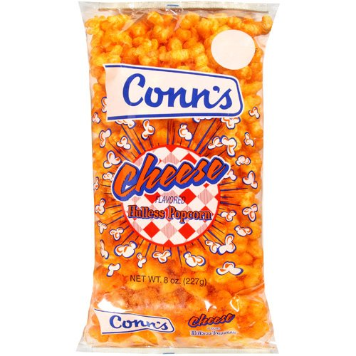 Conn's Cheese Flavored Hulless Popcorn, 8 oz