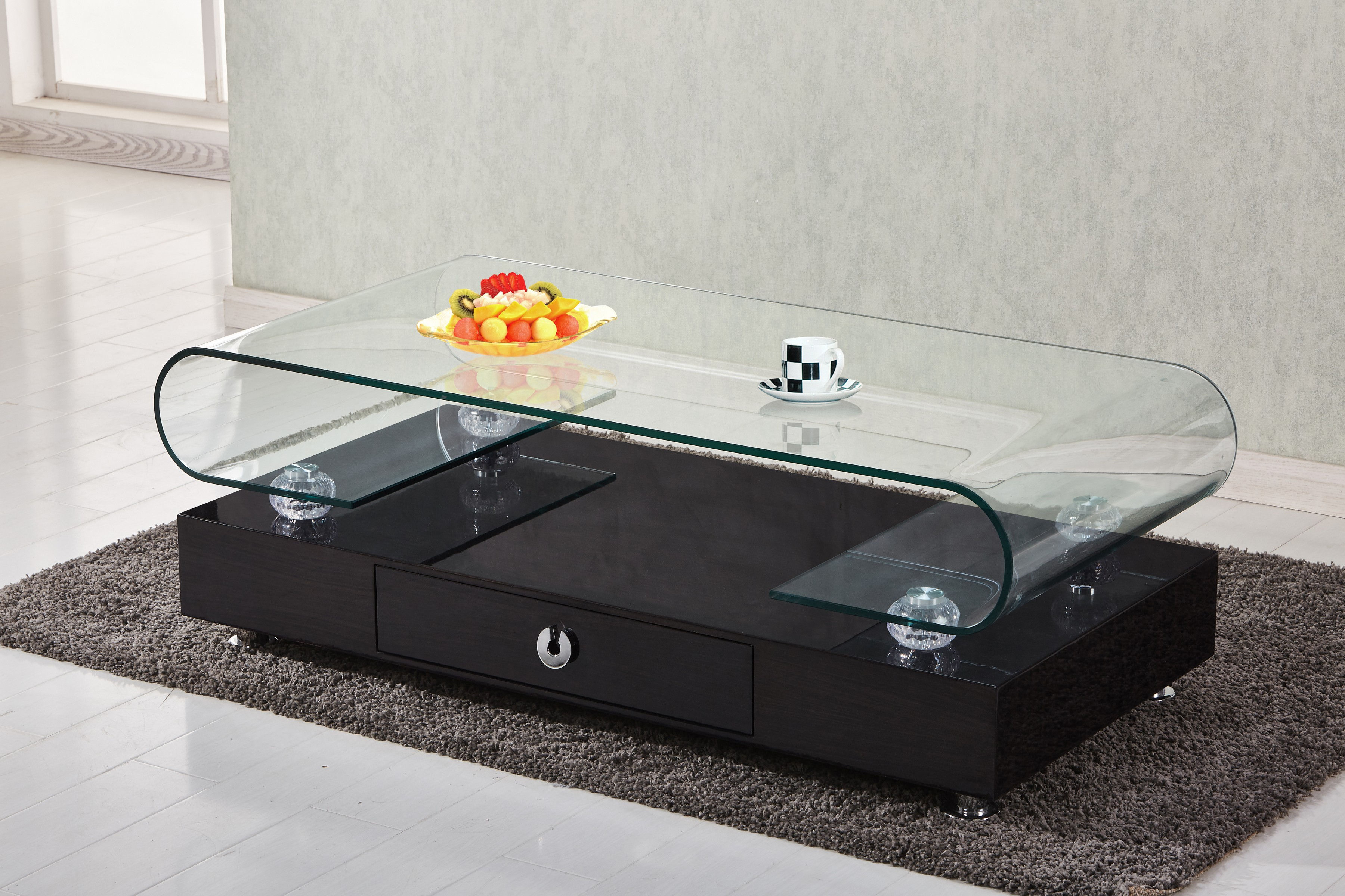 Best Quality Furniture Coffee Table With Top Round Shape Clear
