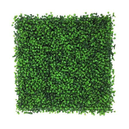 Artificial Hedge Plant, Faux Greenery Panel, UV Protected Faux Greenery Mats, Suitable for Both Outdoor or Indoor, Garden, Backyard and Home Décor,20 x 20 Inch