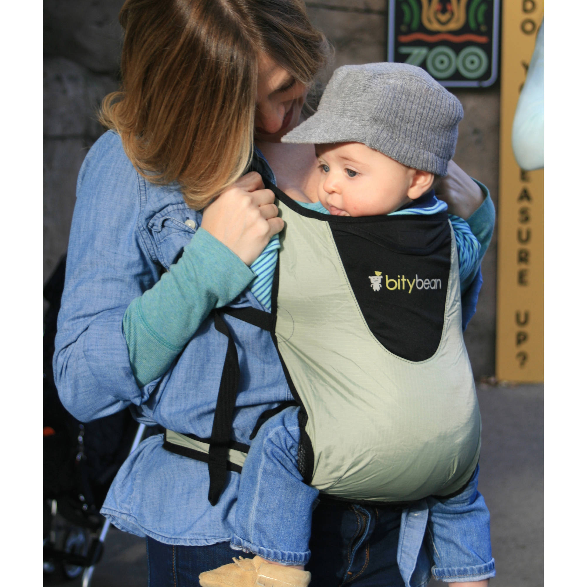 Bitybean Ultracompact Baby Carrier Sand Grey
