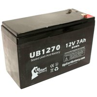 Country Home Products 46LAWN MOWER Battery Replacement -  UB1270 Universal Sealed Lead Acid Battery (12V, 7Ah, 7000mAh, F1 Terminal, AGM, SLA) - Includes TWO F1 to F2 Terminal Adapters