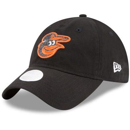 Baltimore Orioles New Era Women's Team Glisten 9TWENTY Adjustable Hat - Black - OSFA