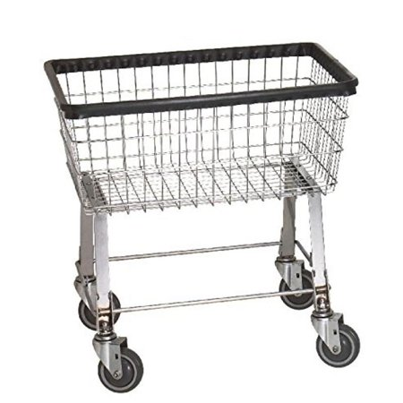 - R&B Wire 96B Light-Duty Wire Frame Metal Laundry Cart - Chrome