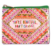 """Blue Q - Coin Purse 4.3"""" x 3.2"""", Youre Beautiful"""