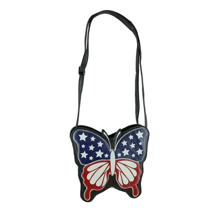 Sleepyville Critters Americana Flag Butterfly Crossbody