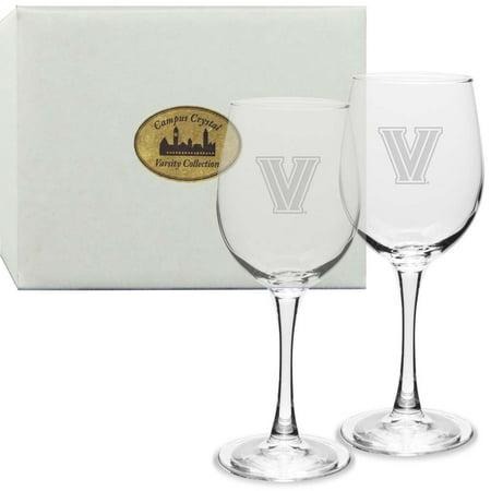 Villanova Crystal 12 oz White Wine Glass (Set of 2) - Halloween Decorated Wine Glasses