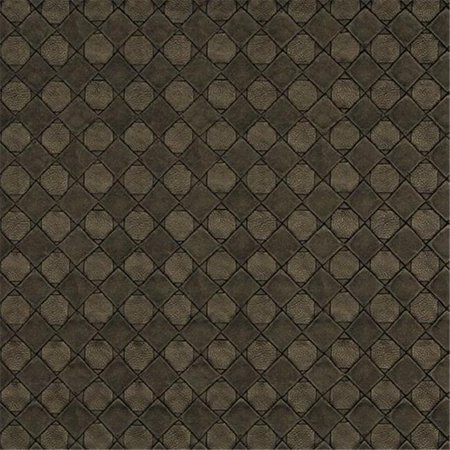54 in. Wide Brown, Metallic Diamonds And Squares Upholstery Faux